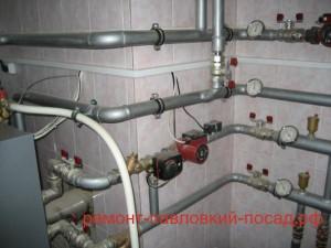 трубы отопления с насосом