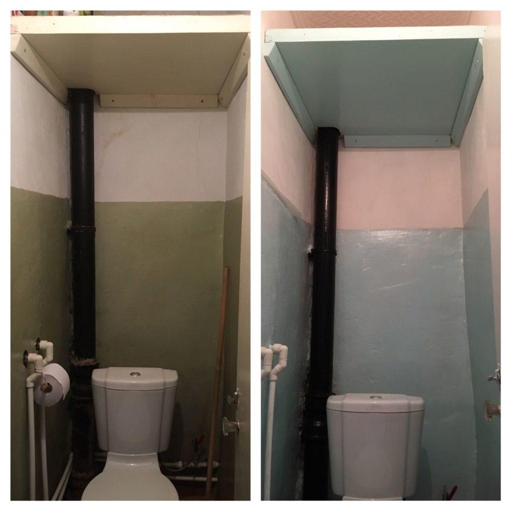 ремонт в туалете