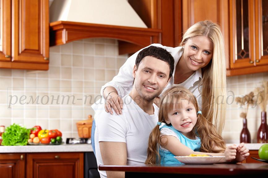 кухня, люди, семья