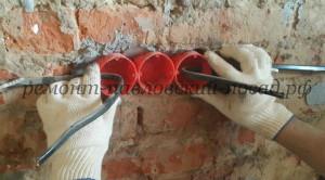 установка пластикового подрозетника