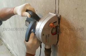 штробление стен штроборезом