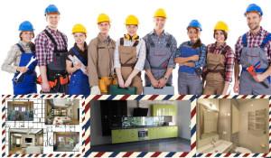 группа людей строителей