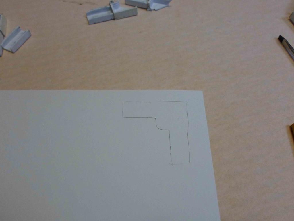 чертеж на бумаге