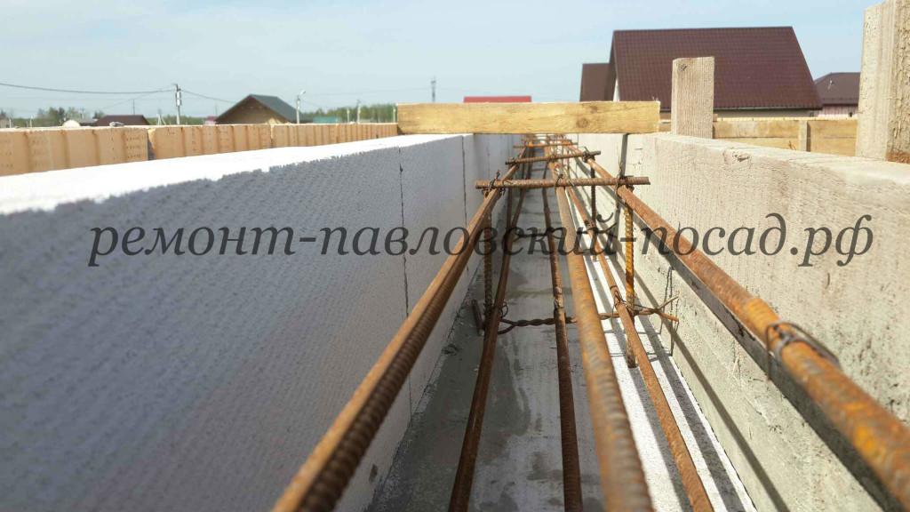 Монолитный пояс под плиты перекрытия