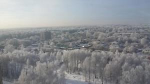 сильный холод в городе
