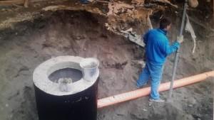 прокладка труб в земле
