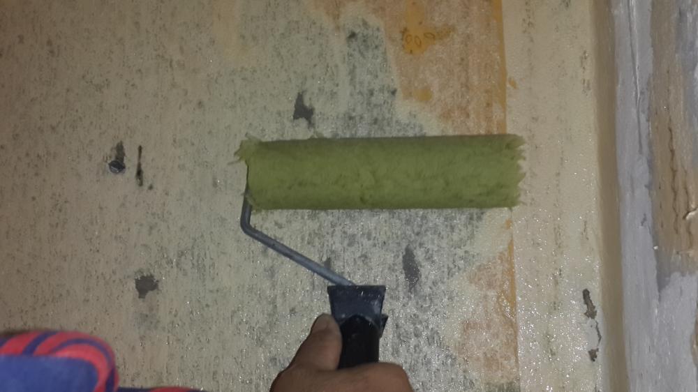 подготовка стен валиком