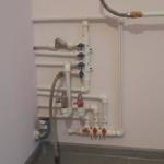 сантехническая гребенка с трубами