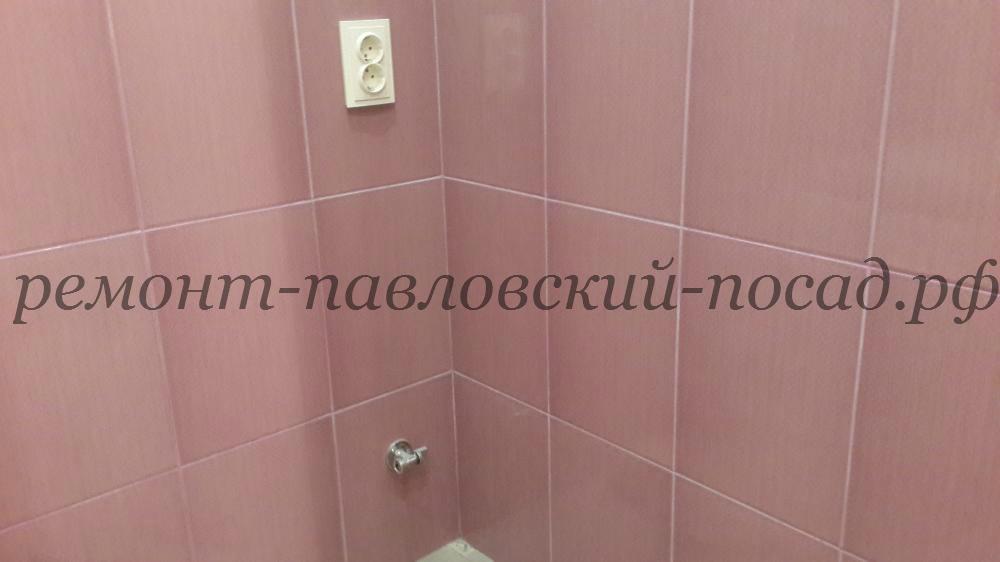 ванная комната с затиркой плитки