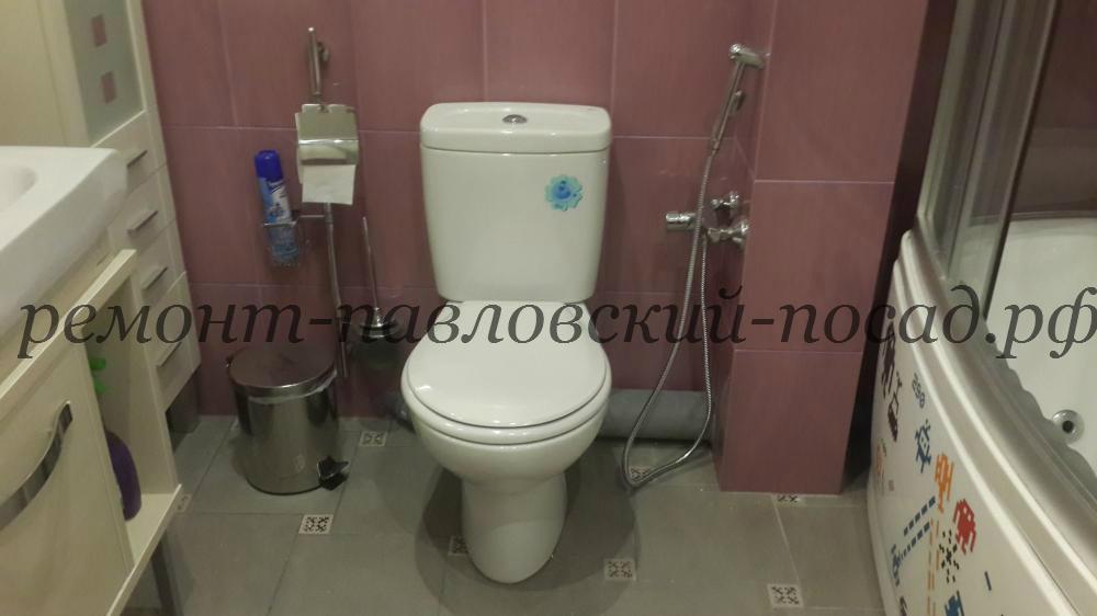 туалет с новым ремонтом