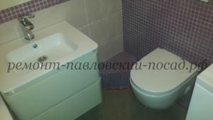 подвесной унитаз с умывальником в ванне