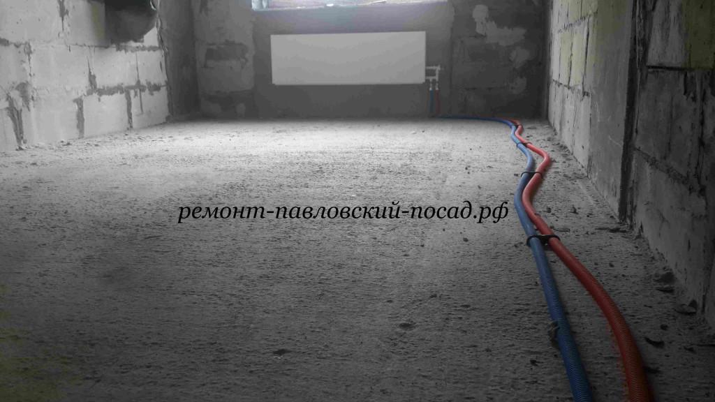 бетонный пол в новостройке
