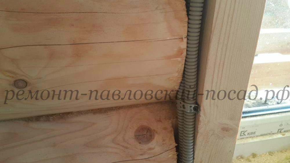 электропроводка в доме из бревна