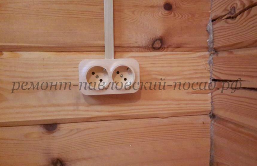 электромонтаж в деревянной даче