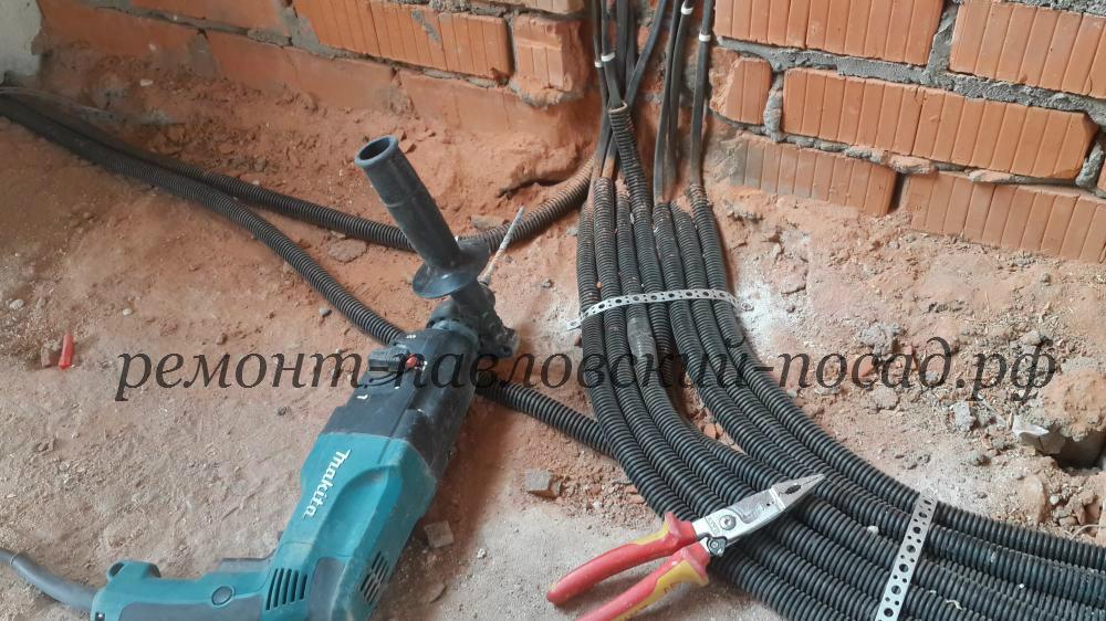 электромонтажные работы в коттедже