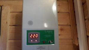 стабилизатор напряжения в бане