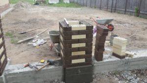 строительство кирпичного столба