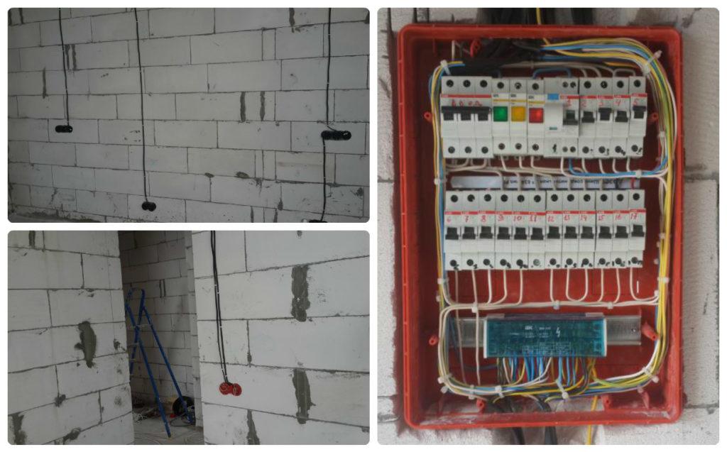 электропроводка в доме из газобетона