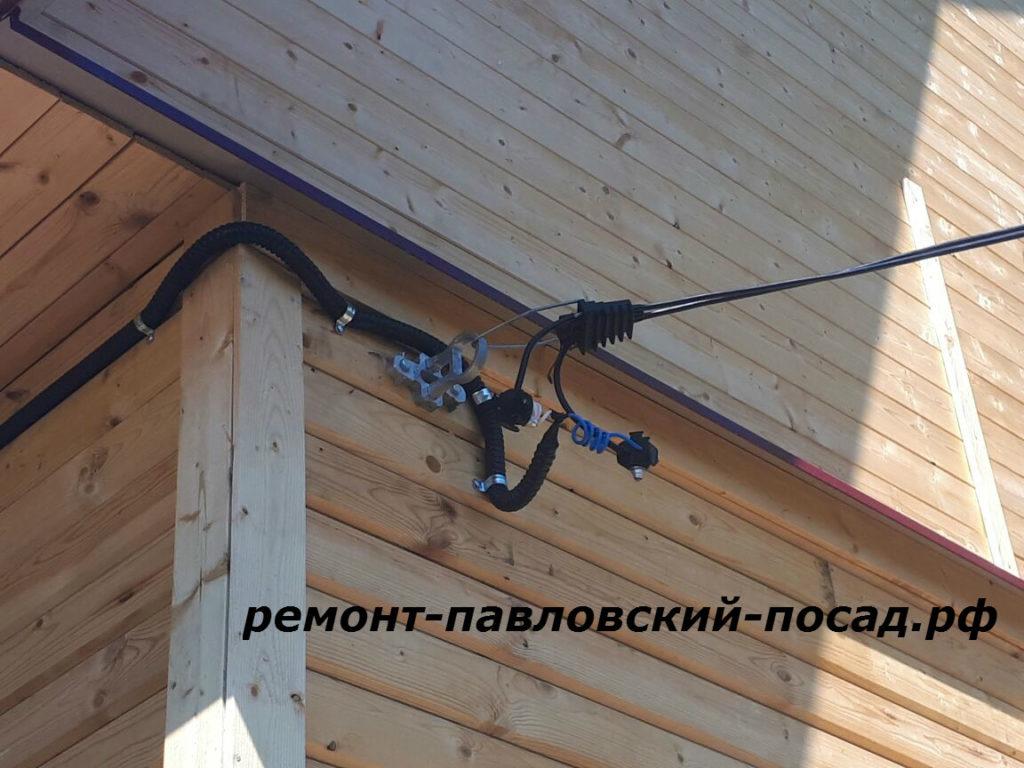 подключение электричества к даче