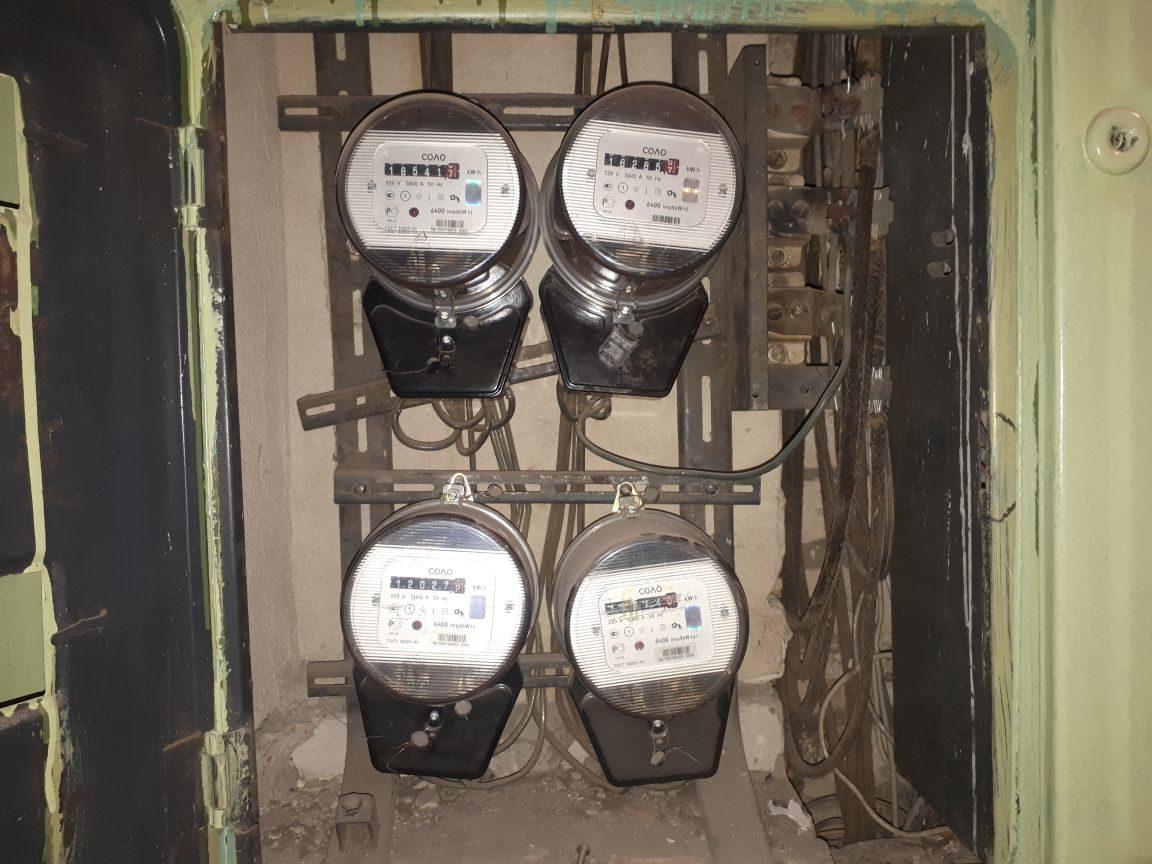 старые электросчетчики
