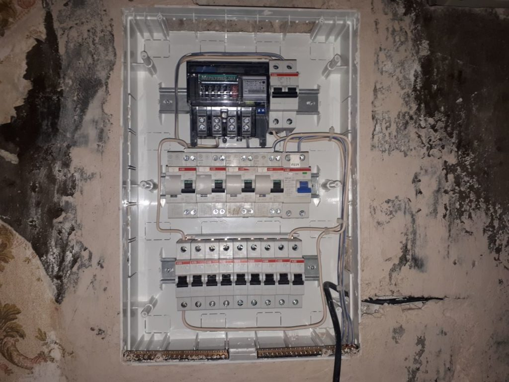 новый электрощит в сталинской квартире