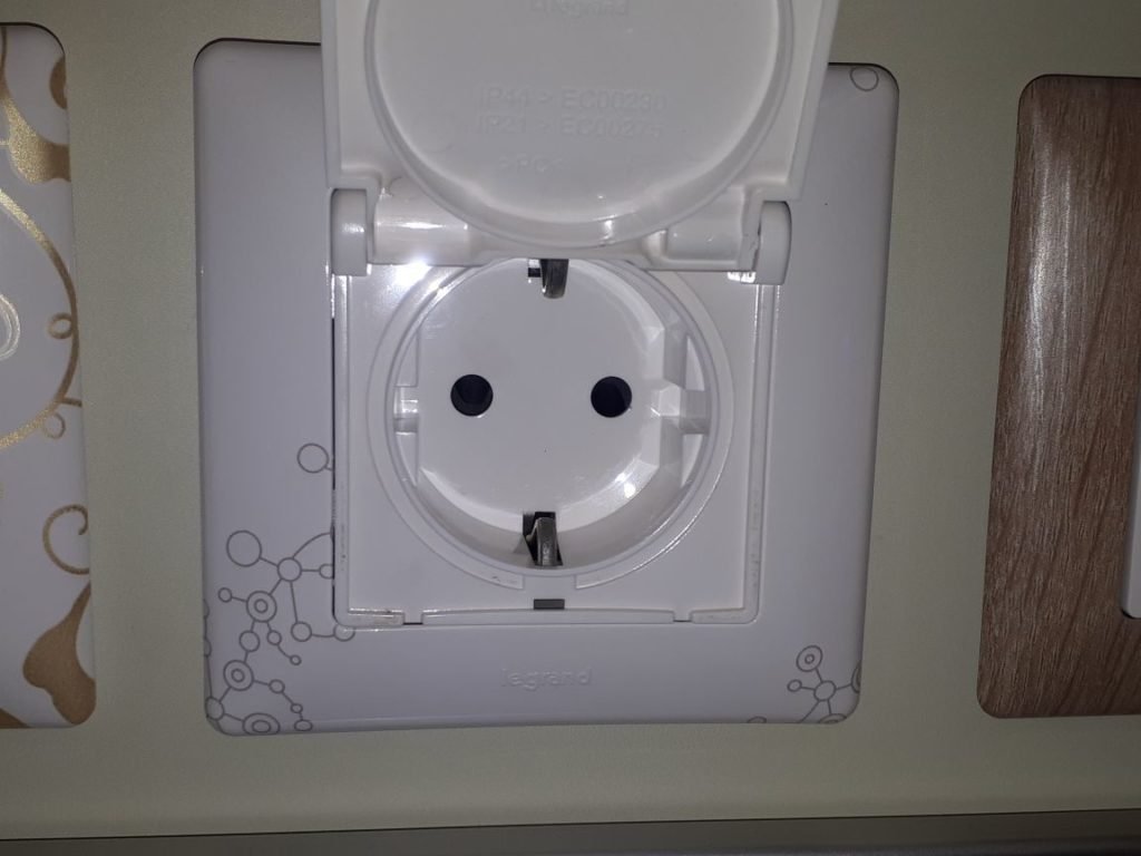 электрическая розетка с крышкой