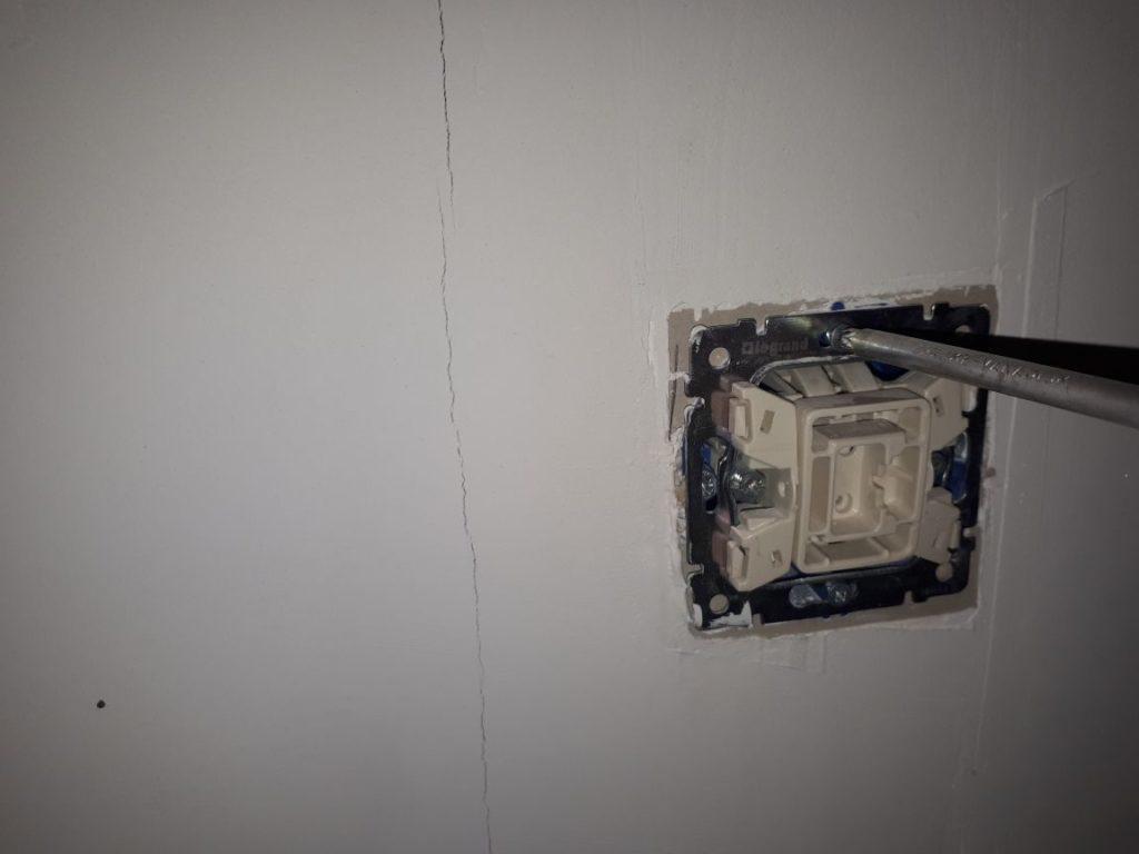 замена выключателя освещения