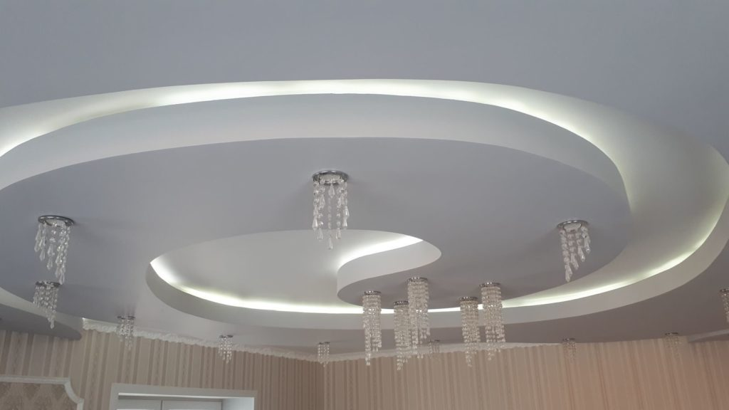 двух уровневый потолок