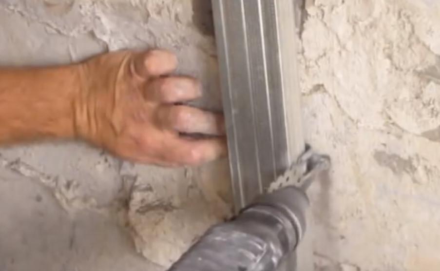 каркас из металлического профиля в ванной