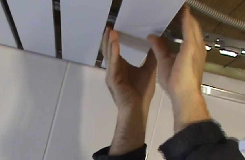 монтаж реек потолка