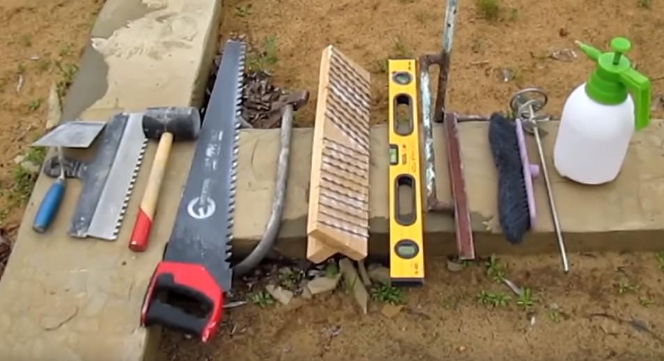 инструмент для кладки газоблока