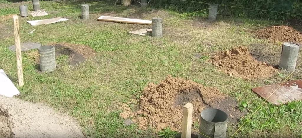 фундамент из столбов