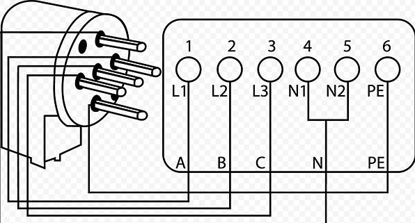 схема трехфазного подключения электроплиты