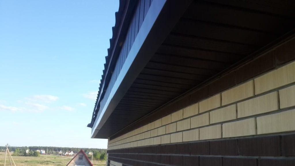 монтаж софитов под крышей