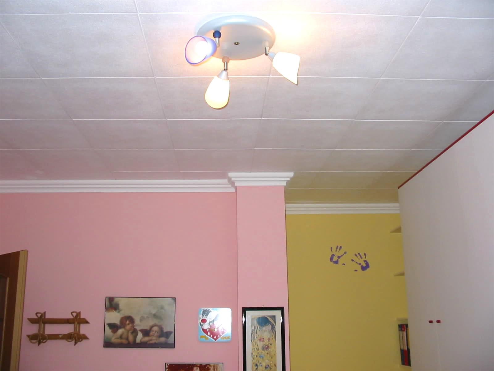 потолок из плиток