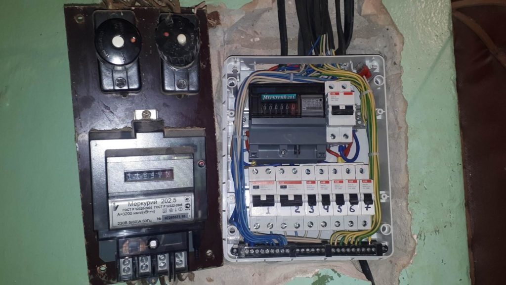 замена электрощитка в хрущевке