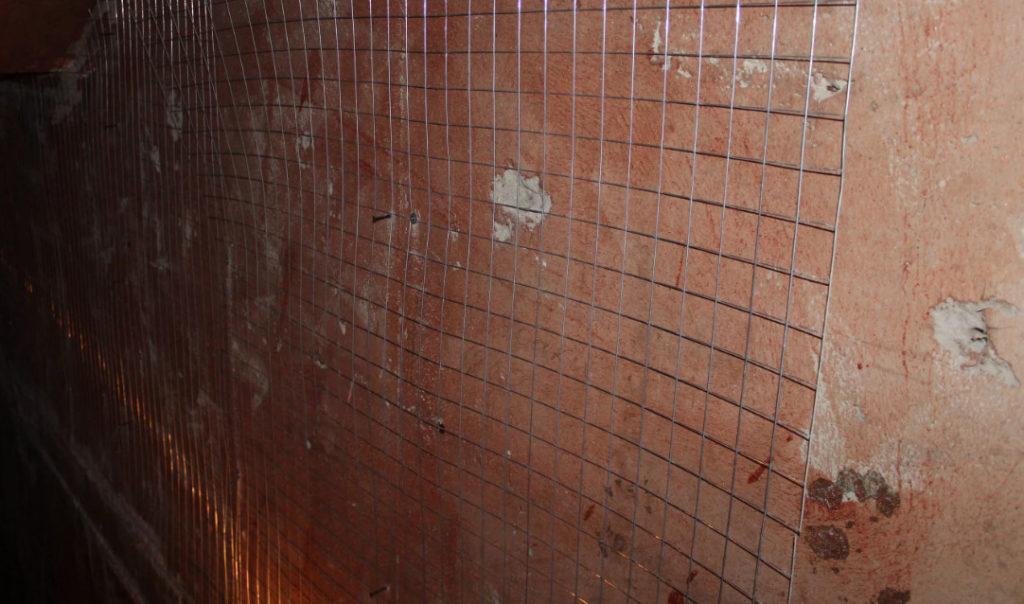 армирование стен в ванной
