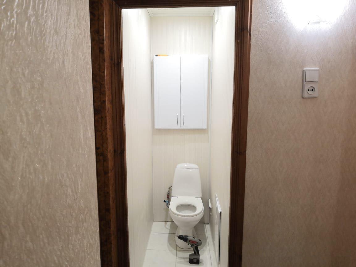 ремонт туалета пвх панелями