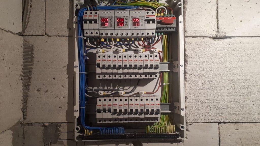 электрощит в доме из пеноблока