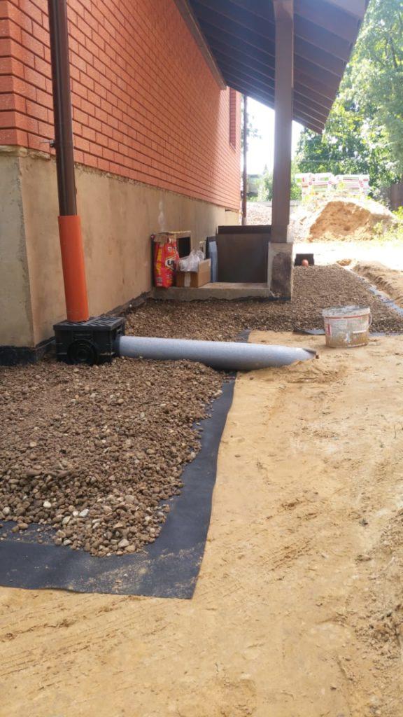 установка воронки для дождевой канализации