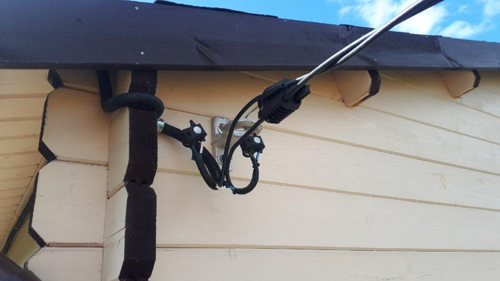 ввод провода в частный дом